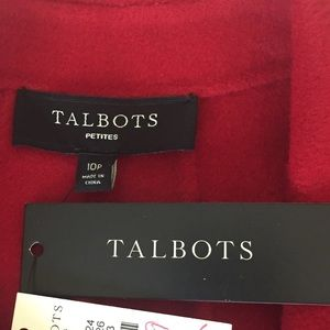 Talbots Jackets & Coats - Talbots Double Breasted Wool Red Pea Coat 10P NWT
